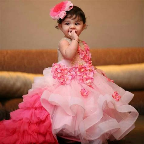 Girls Frock Designs Baby Girls Dresses Baby Wears Summer | beautiful full long dress for the cutest baby girl