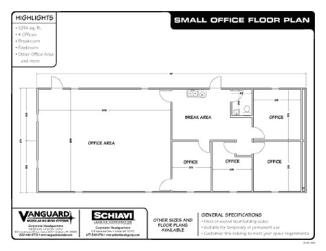 small office building floor plans vanguard modular building systems ready to roll