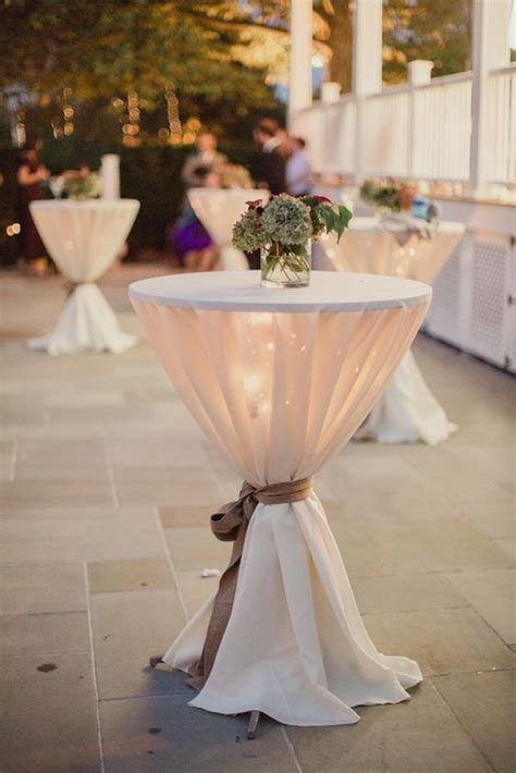 40 ideas to decorate wedding cocktail tables