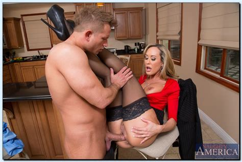 brandi love in black stockings gets fucked hard in the kitchen porn pics at my pornstar book