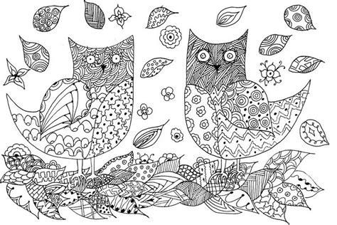 owl zentangle coloring page 1000 images about coloring owls on pinterest owl