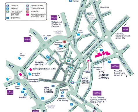 printable map leeds city centre birmingham city university city centre cus map and