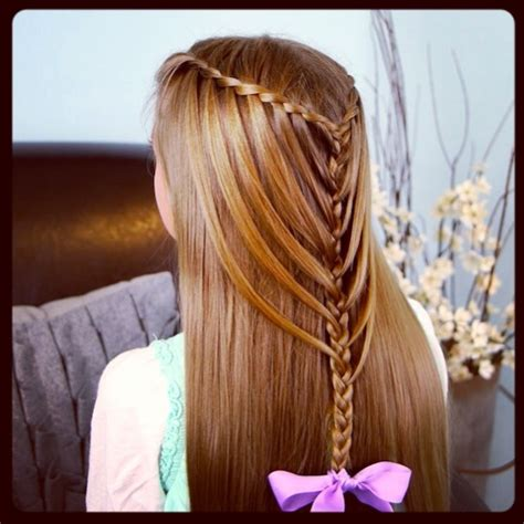 cute girl hairstyles mermaid braid waterfall twists into mermaid braid cute hairstyles