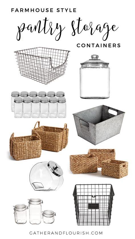 farmhouse style pantry storage gather  flourish
