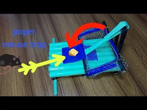 How To Make Cool Paper Crafts - how to make a cool mouse trap using paper craft cracky