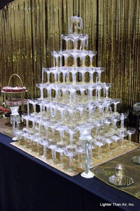 great gatsby themed decorations great gatsby theme chagne glasses pyramid with