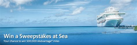American Airlines Sweepstakes - 500 000 american airlines miles sweepstakes with aa cruises point me to the plane