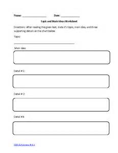 main idea worksheets 3rd grade common core 3rd grade