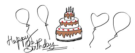 Bday Drawing by Easy Drawing Lessons How To Draw A Birthday