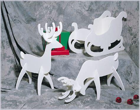 wood reindeer pattern free make tabletop reindeer using cardboard or foam board and a