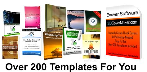 Very Easy To Use Only 9 99 Check Out The Demo Here Http 3dcovermaker Com Free Ebook Templates