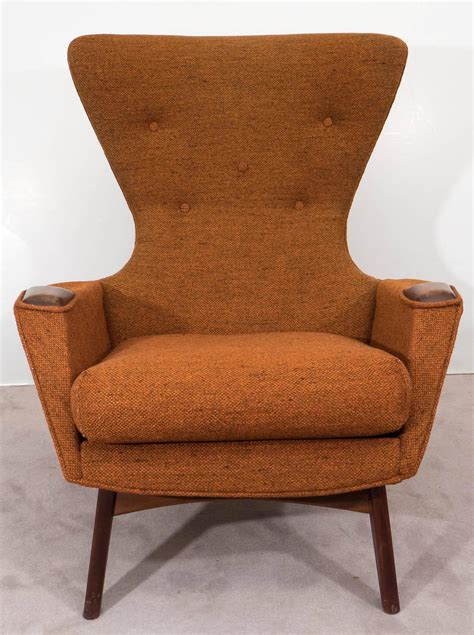 High Back Wing Armchairs by Adrian Pearsall High Back Wing Armchair At 1stdibs