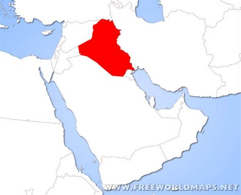 baghdad map world where is iraq located on the map