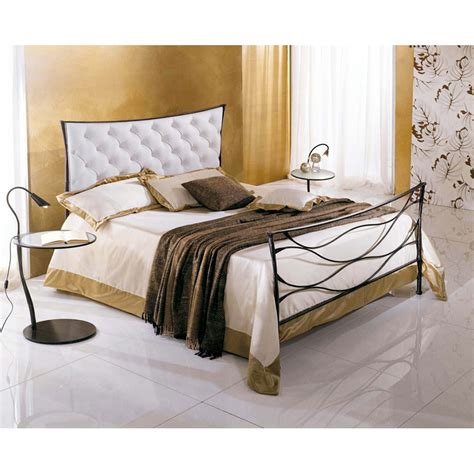 Handmade Iron Beds - wrought iron single bed idra capitonn 233 handmade in italy