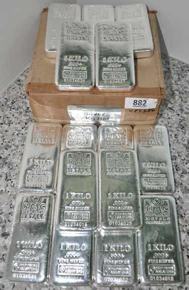 1 Kilo Silver Bar by Kilo Silver Bar 32 15 Oz Mint In Stock Ready To Ship