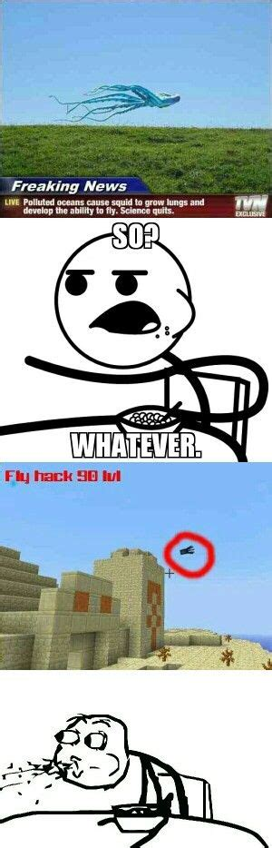 Minecraft Memes - minecraft flying squid meme lexi bell pinterest