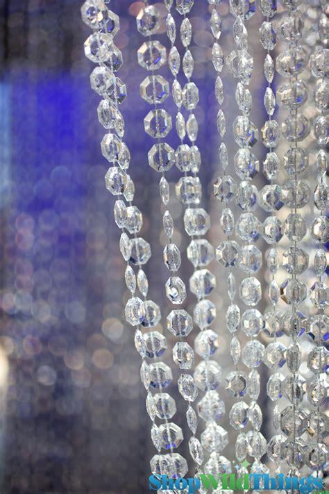 Diamonds Crystal Non Iridescent High Gloss Beaded Curtain 3 Feet X 6 Feet Crystal Curtain Clear » Home Design 2017