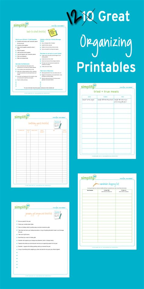 life organizer planner printable 7 best images of organizing goal printables free