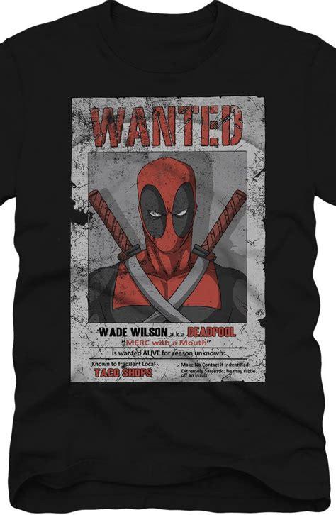 T Shirt Deadpool Gun Hitam wanted deadpool t shirt deadpool marvel comics et merveille