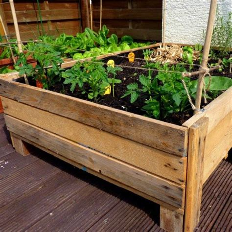 Vegetable Garden Planter Box Plans Container Gardening Diy Planter Box From Pallets Diy