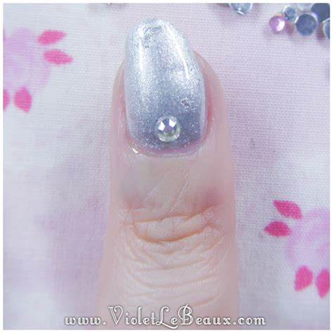 diamante pattern on nails how to do full diamante nail art violet lebeaux tales