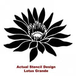 Lotus Stencil Reusable Flower Stencil Lotus Grande Lg Better Than