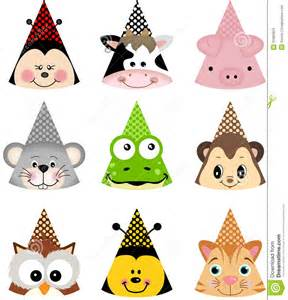 animal party hats stock images image 31883924