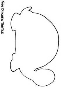 Turtle Outline Template by Turtle Outline Free Coloring Pages On Coloring Pages