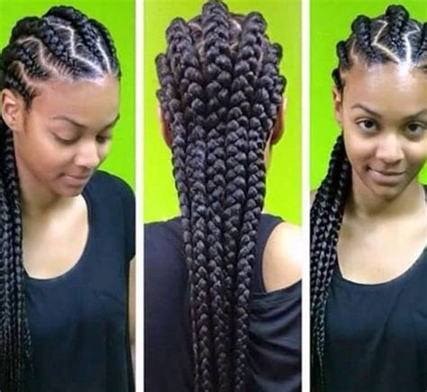 one plat jumbo braid styles pics corn rows coming back tho good hair days pinterest
