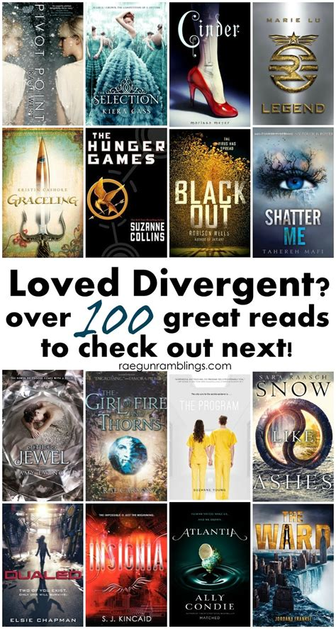 top 100 books for teens 100 books for divergent fans rae gun ramblings
