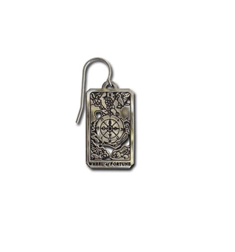 Wheel Of Fortune Pendant x wheel of fortune tarot small pendant earrings