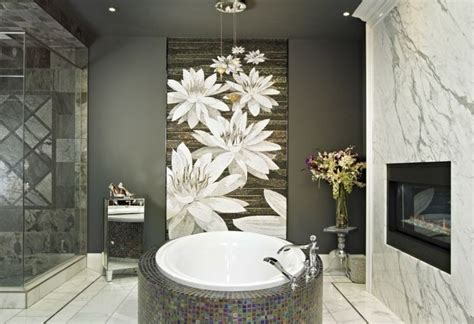 Bathroom Artwork Ideas by Bathroom Ideas With White Flower Wallpaper Decolover Net