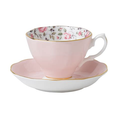 royal albert rose confetti teacup saucer set royal