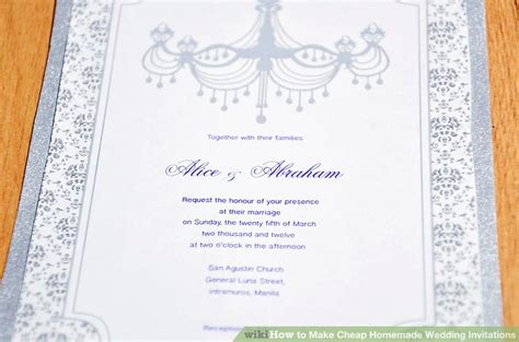 Cheap Handmade Wedding Invitations - 3 ways to make cheap wedding invitations wikihow