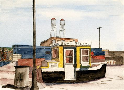 boat r near boat rental near duluth canal park painting by r kyllo