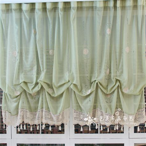 balloon curtains for living room new pastoral style adjustable balloon curtain living room