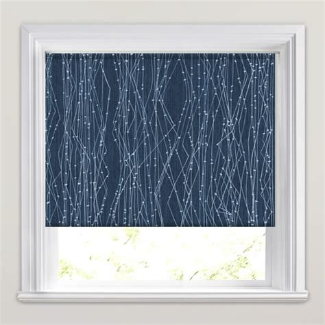 white patterned roller blind unusual modern blue white electric patterned blackout