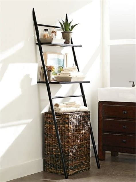 rustic the toilet storage ladder contemporary