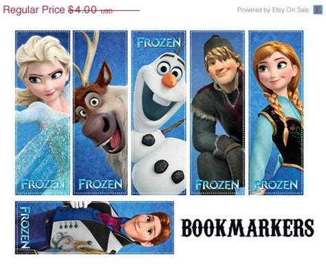 printable frozen bookmarks 6 best images of free printable bookmarks disney frozen