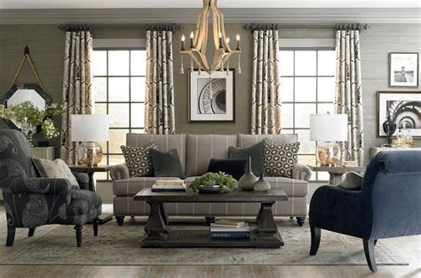 hgtv gray living rooms hgtv home custom upholstery medium sofa by bassett furniture contemporary living room by