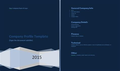 company portfolio template doc professional company profile template on behance