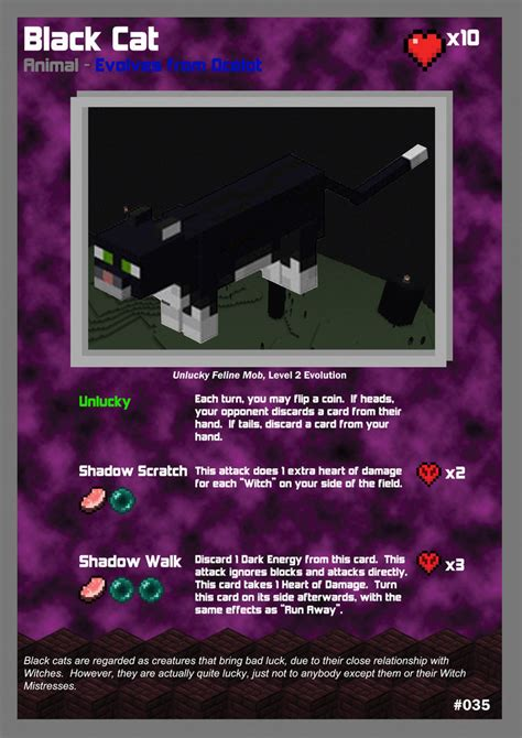 Buy Minecraft Gift Card - minecraft tcg 035 black cat by acaroa on deviantart