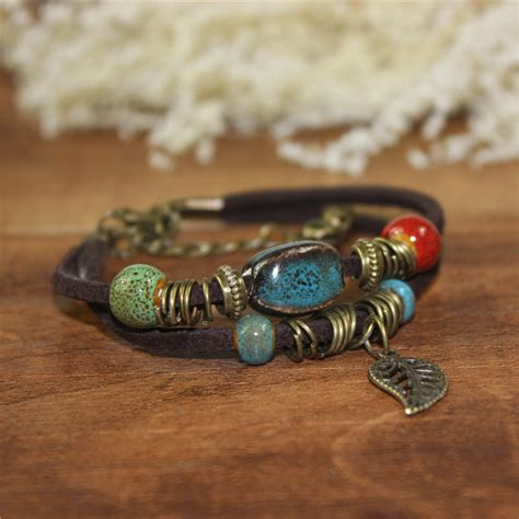 Handmade Vintage Jewelry - free shipping jewelry handmade vintage cowhide rope