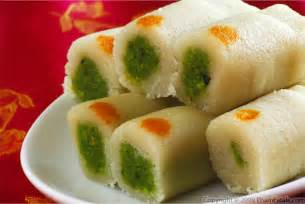 kaju pista rolls indian cashew and pistachio sweets