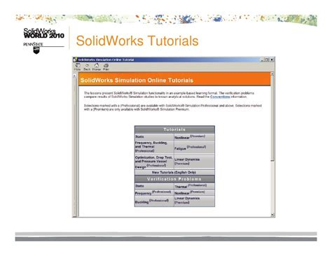 solidworks fea tutorial finite element analysis made easy lr
