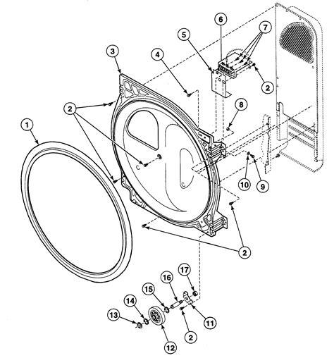 speed dryer parts diagram roller assy diagram parts list for model sde407wf1500