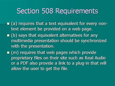 section 508 pdf slides and notes for podcasts vodcasts and accessibility