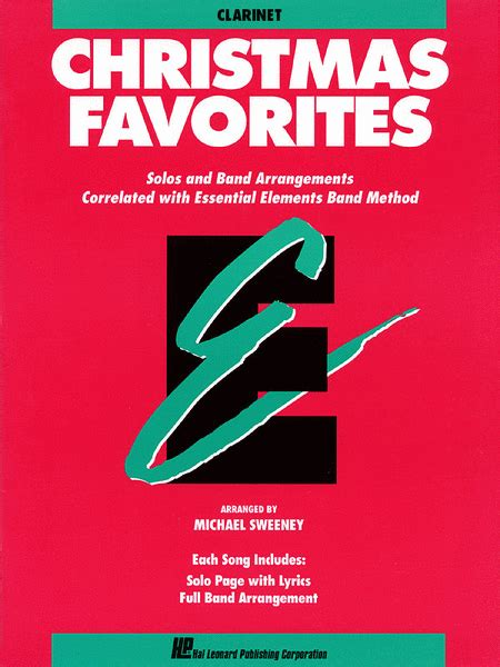 christmas favorites bb clarinet sheet music by michael
