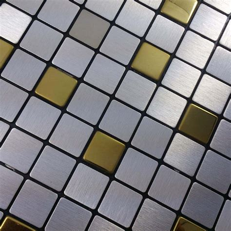 bathroom adhesive tiles silver mixed golden color square 20x20mm self adhesive
