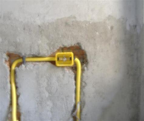 tubi gas cucina impianto gas tubazioni in rame in guaina a tenuta ed